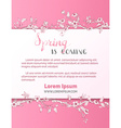 spring pink card vector image