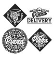 vintage pizza delivery emblems vector image