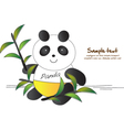 Cute Panda vector image vector image