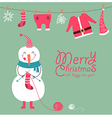 Funny snowman vector image vector image