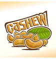 logo for cashew nuts vector image