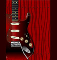 quality wood guitar vector image