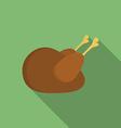 Icon of Christmas Turkey Flat style vector image