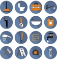 Flat Bathroom Icons Set vector image