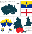 County Durham North East England vector image
