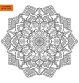 Coloring Book Page with Mandala Outline vector image