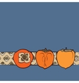 persimmon seamless pattern vector image vector image