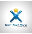 corporate success logo vector image vector image