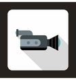 Video camcorder with video cassette icon vector image vector image