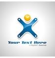 corporate success logo vector image