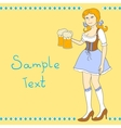 Girl with a beer celebrating Oktoberfest vector image