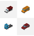 isometric automobile set of car truck freight vector image