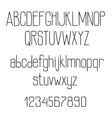 Retro alphabet with tiny lines letters vector image