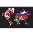 World map with flag vector image