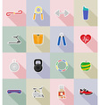 fitness flat icons 18 vector image