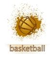 Basketball Creative Grunge Logo vector image