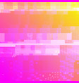 colorful glitch art background vector image