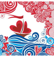 Ship of love vector image