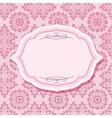 Frame on patterns in pastel pink vector image vector image