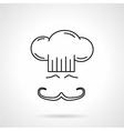 Chef black line icon vector image