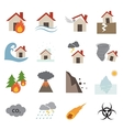 disaster icon vector image