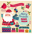 Merry Christmas with Santa vector image vector image