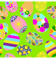 Seamless multicolored pattern of Easter eggs vector image
