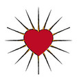 comic heart love decoration emblem vector image