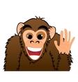Monkey invitation vector image
