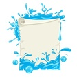 Placard paper blank template vector image