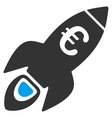 Euro Rocket Startup Flat Icon vector image