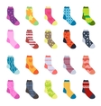 Sock set icons Socks collection flat design vector image