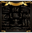 gold calligraphic design elements decoration set vector image