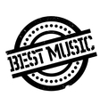 Best Music rubber stamp vector image
