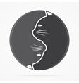 yin yang cats logo vector image