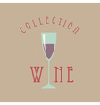 wine glass sign vector image vector image