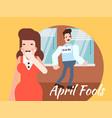 april fools day vector image
