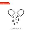 capsule icon vector image