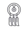 dreamcatcher line icon sign vector image