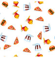 fast food seamless pattern on white background vector image