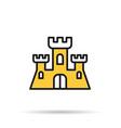 line icon - sand castle vector image