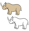 rhino coloring book vector image