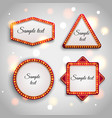 Shining retro light banner Glowing cinema vector image