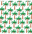 tree palm summer pattern vector image