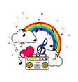 tshirt teen music vector image