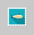 tuna stamp fishing vacation vector image