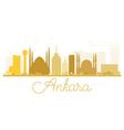 Ankara City skyline golden silhouette vector image