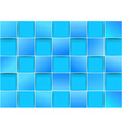 Blue tiles - threedimensional background vector image vector image