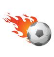 flaming ball vector image vector image