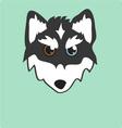Husky Head vector image